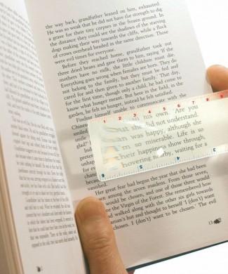 Lupa plana punto de lectura