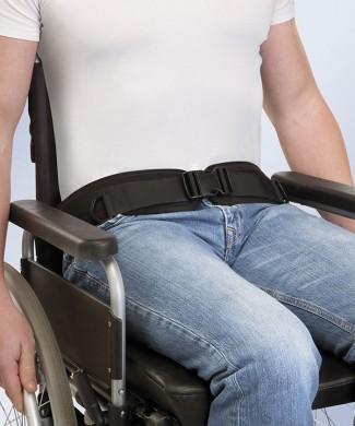 Cinturón arnés pélvico para silla de ruedas
