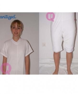 Pijama antipañal todo corto color blanco UBIO