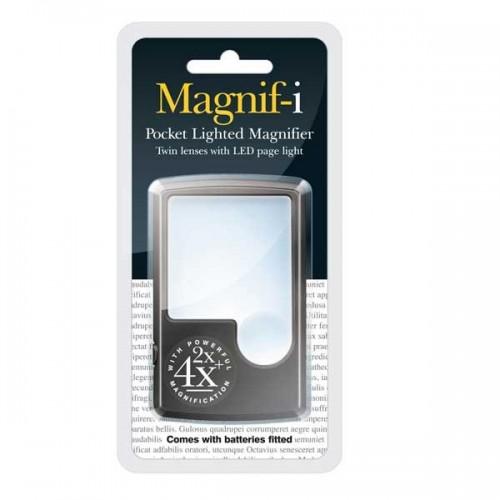 Lupa de bolsillo con luz led Magnif-i
