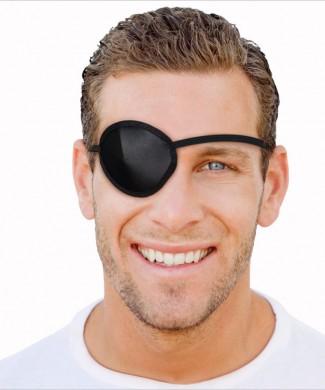 Parche ocular negro protector ojo