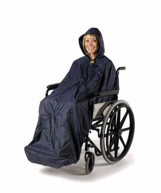 Chubasquero para silla de ruedas sin mangas