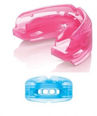 Protector bucal doble silicona rosa o azul