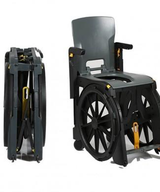 Silla de ruedas ducha plegable wheelable