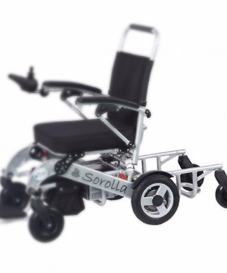 Remolque plataforma acompañante silla ruedas electrica