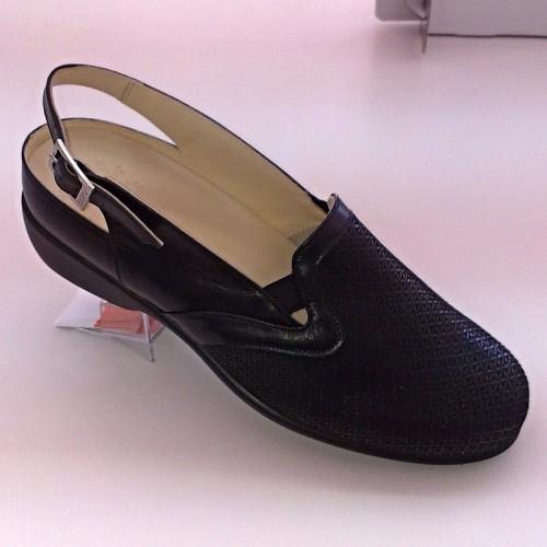 Zapato Terol negro lycra verano