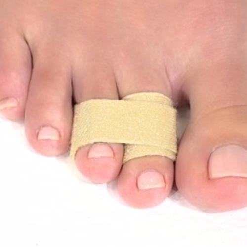 Toe loops, cincha par aferulizar dedos de los pies con velcro