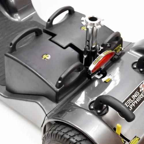 Sterling Sapphire2, detalle baterías desmontables.
