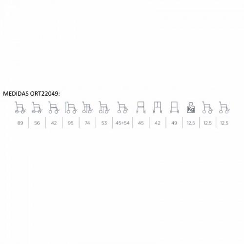 Tabla de medidas silla ducha wc 22049