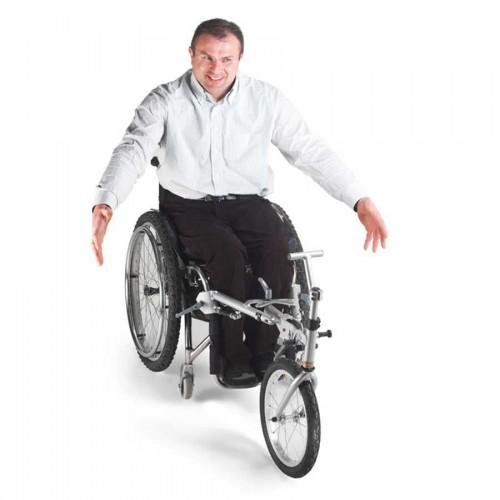 Easy wheel en uso en silla de ruedas