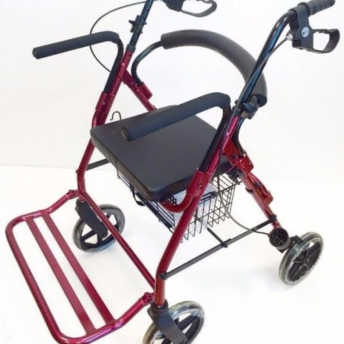 Caminador rollator y silla de ruedas 2 en 1 century