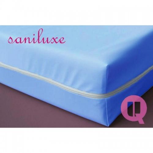 Funda de colchón impermeable poliuretano saniluxe azul
