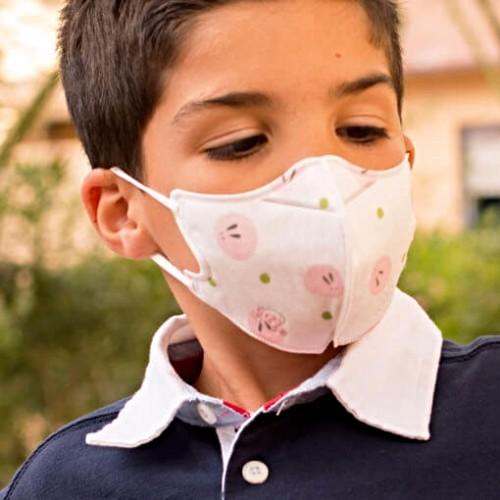 Mascarilla infantil con dibujos para pacientes inmunodeprimidos, alergia o contaminación