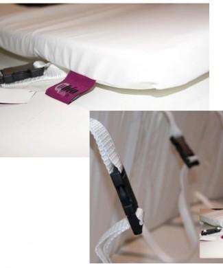 Protector barandilla cama vinilo blanco