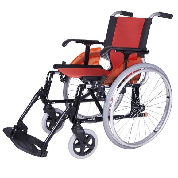 Silla de ruedas forta line naranja.