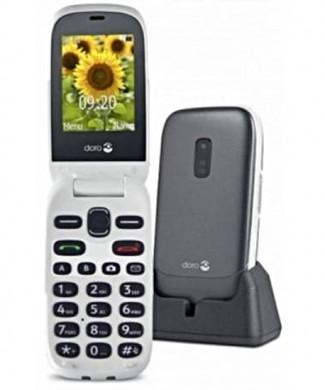 Teléfono Doro 6030 con tapa y base de carga