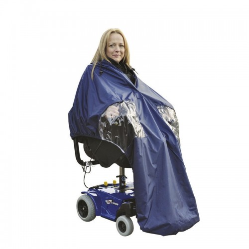 Chubasquero impermeable para silla eléctrica.