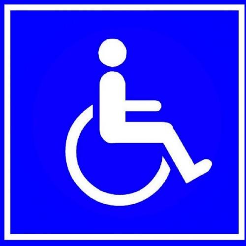 Pegatina adhesiva discapacitado interior cristal