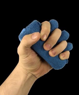 Almohadilla en cono para mano con separador de dedos de dedo