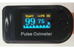 Pulsioxímetro saturador aerocare con curva